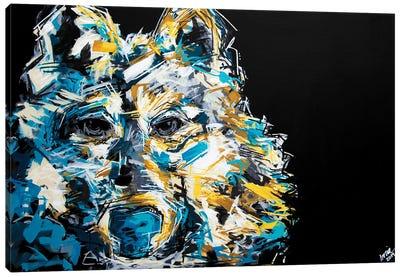 Jack The Wolf Canvas Art Print
