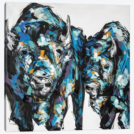 Jake + Lil Canvas Print #BHM23} by Bria Hammock Art Print