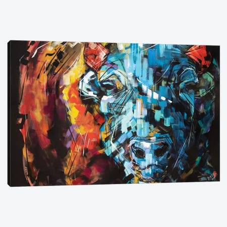 Linda The Bison Canvas Print #BHM25} by Bria Hammock Canvas Wall Art