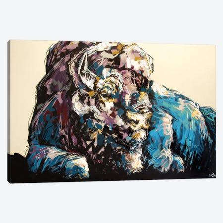 Lisa The Bison Canvas Print #BHM26} by Bria Hammock Canvas Art
