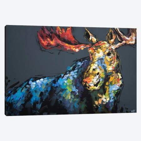 Mason The Moose Canvas Print #BHM28} by Bria Hammock Canvas Art Print