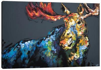 Mason The Moose Canvas Art Print