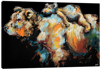 Midge + Esther Canvas Art Print