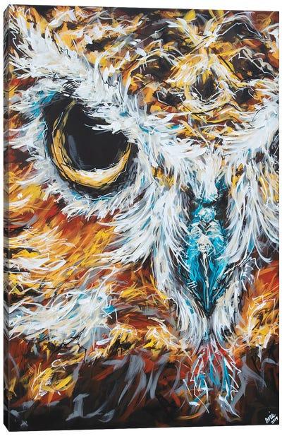 Misty The Owl Canvas Art Print