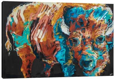 Arthur The Bison Canvas Art Print