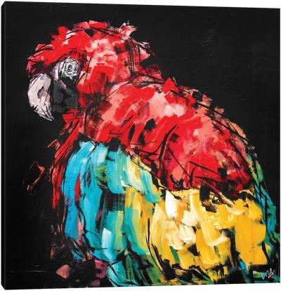 Rico The Macaw Canvas Art Print