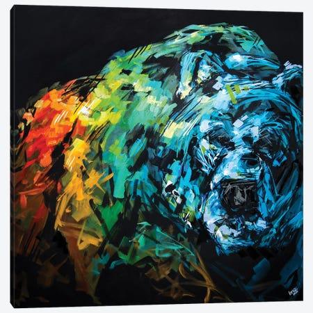 Sam The Bear Canvas Print #BHM37} by Bria Hammock Canvas Art Print