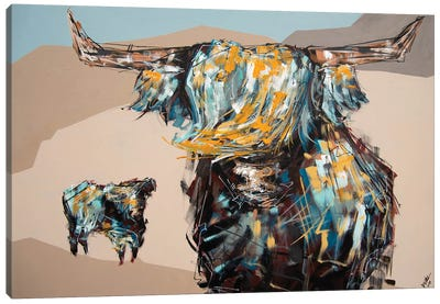 Harley + Bear Canvas Art Print