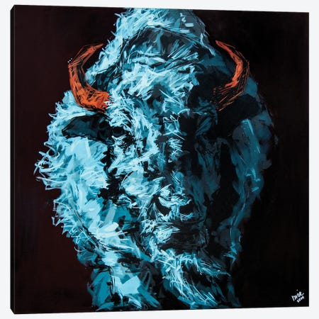 Tim The Bison Canvas Print #BHM40} by Bria Hammock Canvas Print