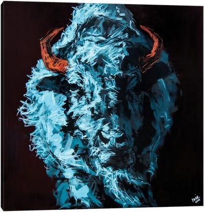 Tim The Bison Canvas Art Print