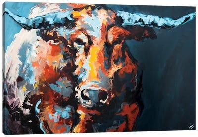 Steve The Longhorn Canvas Art Print