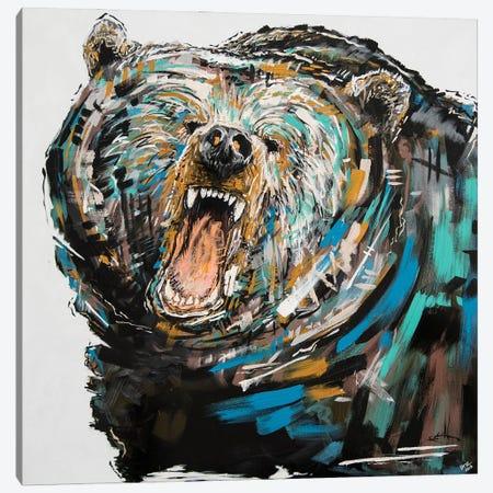 Phillip The Bear Canvas Print #BHM6} by Bria Hammock Canvas Artwork