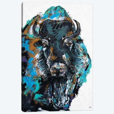 Fiona The Bison Canvas Print #BHM7} by Bria Hammock Canvas Wall Art