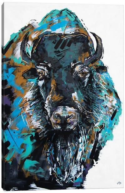 Fiona The Bison Canvas Art Print