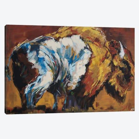 Wilson The Bison Canvas Print #BHM9} by Bria Hammock Canvas Print