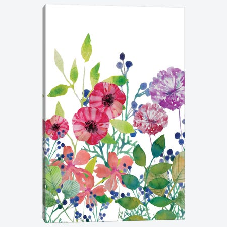 Flowers V Canvas Print #BHS10} by Boho Hue Studio Canvas Artwork