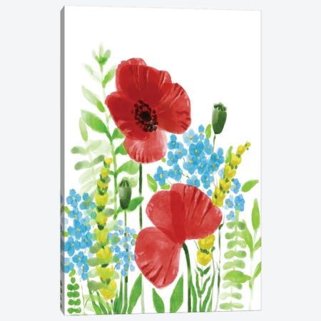 Wild Flowers Canvas Print #BHS11} by Boho Hue Studio Canvas Wall Art