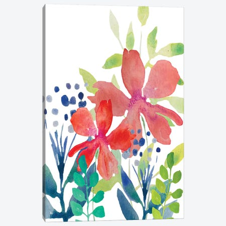 Flowers XIII Canvas Print #BHS12} by Boho Hue Studio Canvas Wall Art