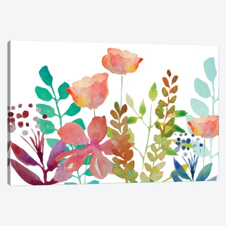 Florals V Canvas Print #BHS13} by Boho Hue Studio Canvas Artwork