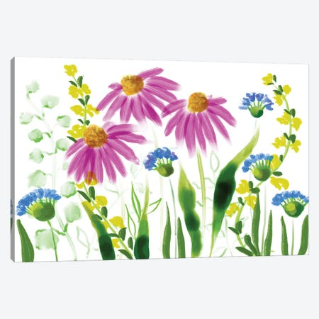 Wild Flowers X Canvas Print #BHS15} by Boho Hue Studio Canvas Art Print