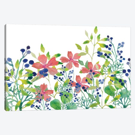 Floral Field II Canvas Print #BHS17} by Boho Hue Studio Art Print