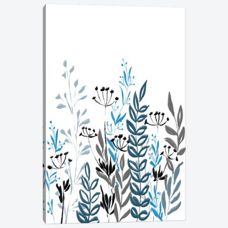 Blue Field I Canvas Print #BHS18} by Boho Hue Studio Canvas Wall Art