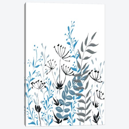 Blue Field II Canvas Print #BHS19} by Boho Hue Studio Canvas Artwork