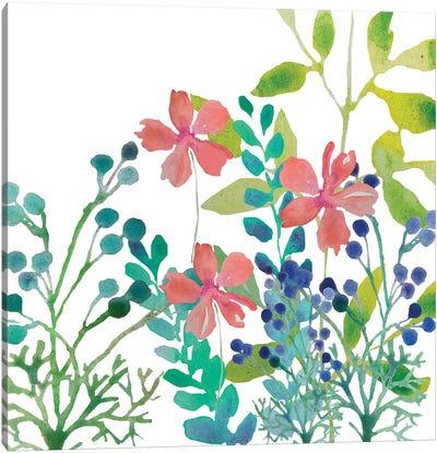 Flowers Square Canvas Art Print