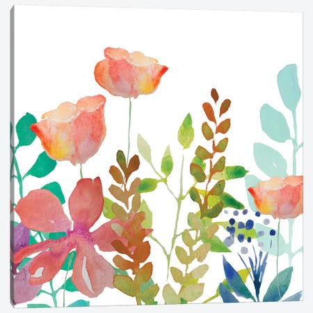 Flowers Canvas Print #BHS26} by Boho Hue Studio Canvas Art