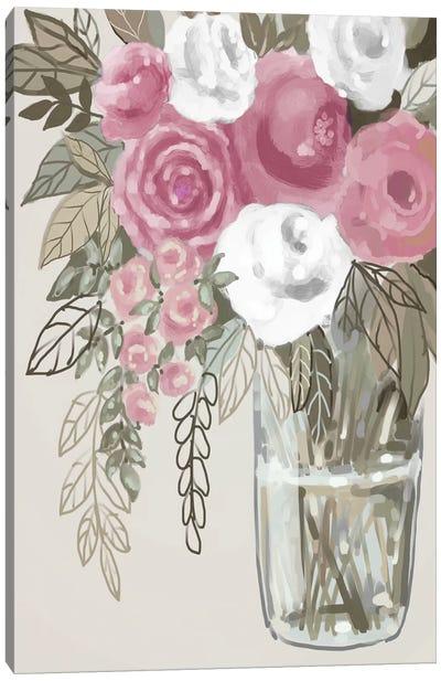 Soft Pink Florals I Canvas Art Print