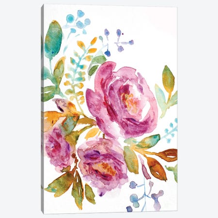 Purple Peony Canvas Print #BHS2} by Boho Hue Studio Canvas Artwork