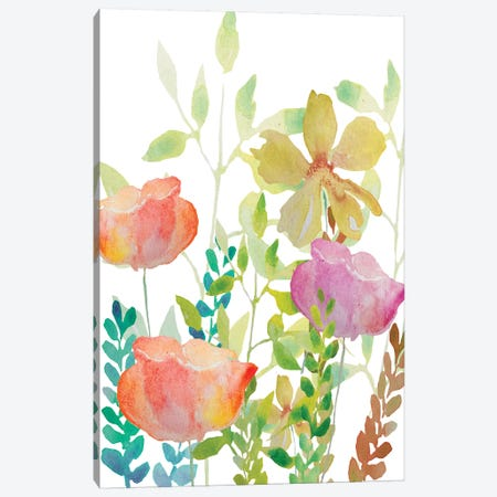 Field Flowers Canvas Print #BHS7} by Boho Hue Studio Canvas Art Print