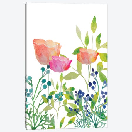 Flowers XX Canvas Print #BHS8} by Boho Hue Studio Canvas Art
