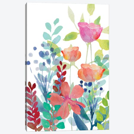 Florals Canvas Print #BHS9} by Boho Hue Studio Canvas Artwork
