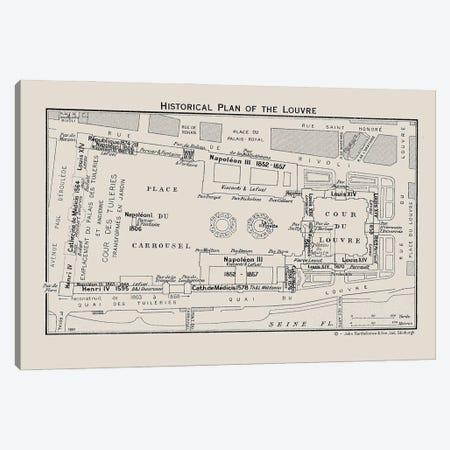 Louvre Museum Floorplan Canvas Print #BIB10} by Bibliotography Canvas Wall Art