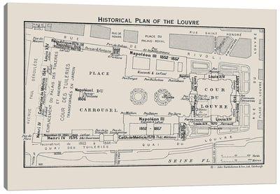 Louvre Museum Floorplan Canvas Art Print