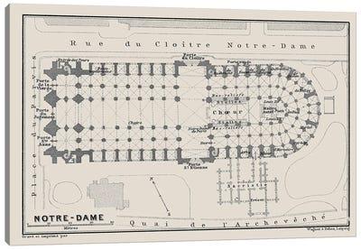 Notre Dame Cathedral Floorplan Canvas Art Print