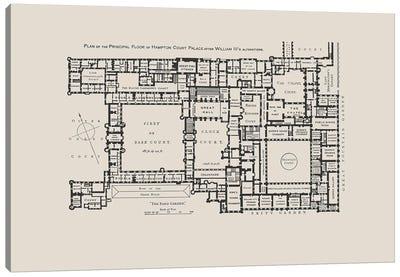 Hampton Court Palace Floorplan Canvas Art Print
