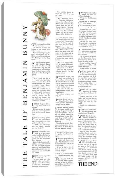 Benjamin Bunny Beatrix Potter Canvas Art Print
