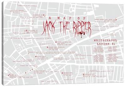 Jack The Ripper London Infographic Canvas Art Print