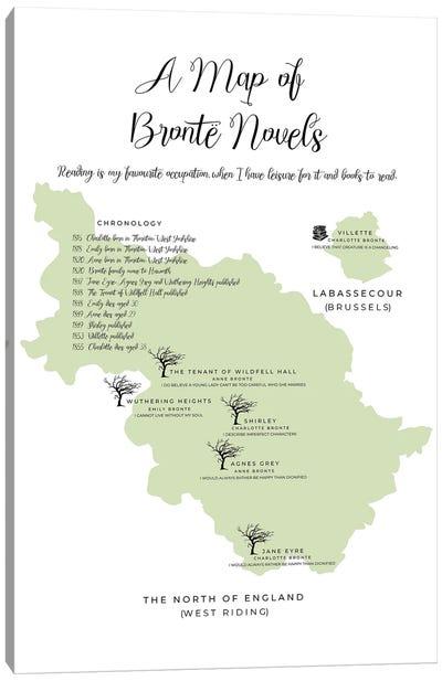A Map Of Bronte Novels Canvas Art Print