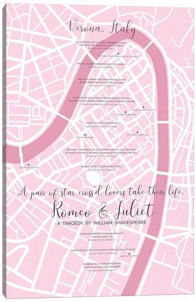 Romeo And Juliet Verona Infographic Canvas Art Print