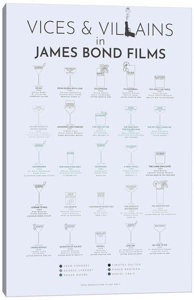 Vices And Villains In James Bond Films Canvas Art Print