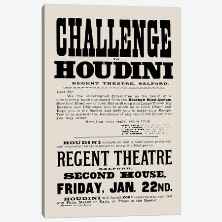 Harry Houdini Challenge Canvas Print #BIB54} by Bibliotography Canvas Print