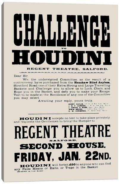 Harry Houdini Challenge Canvas Art Print