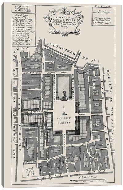 Covent Garden Street Map Canvas Art Print