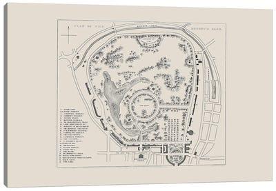Regent's Park Map Canvas Art Print