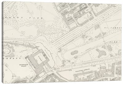 Buckingham Palace London Map Canvas Art Print