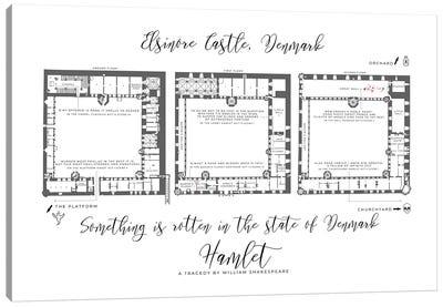 Hamlet Infographic Floorplan Canvas Art Print