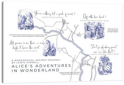 Alice's Adventures In Wonderland Infographic Landscape Canvas Art Print